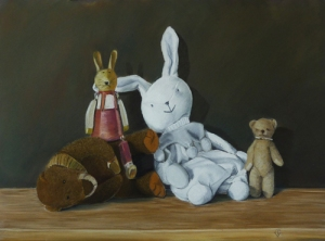 Hanging out - 58 cm x 43 cm - PEV