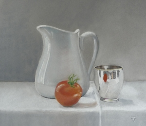 Red On White - 34 cm x 27 cm - PEV