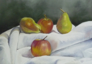 Apples and pears - 37 cm x 27 cm - PEV